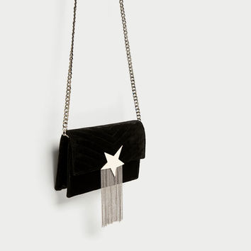 CROSSBODY BAG WITH STAR DETAIL DETAILS