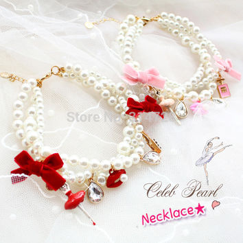 Luxury Glaze Ballet Pearl Adjustable Pet Necklace