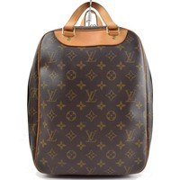 Authentic Louis Vuitton Hand Bag Excursion M41450 Browns Monogram 243357