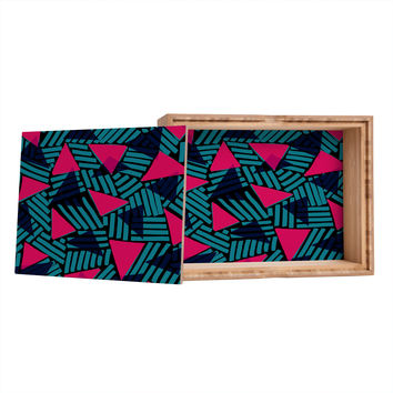 Sarah Bagshaw Blue And Pink Triangles Storage Box