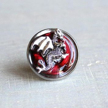 Dragon tie tack / lapel pin - available in additional colors