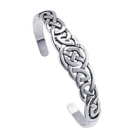 Sterling Silver Celtic Weave Cuff Bracelet Custom Made in the USA