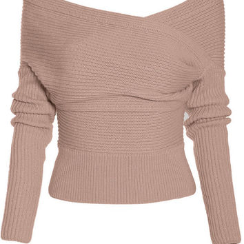 Cupshe Drop It Cross Plunging Sweater