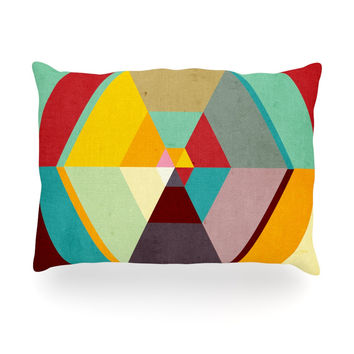 "Danny Ivan ""Color Mess"" Oblong Pillow"