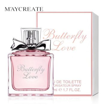 MayCreate 50ml Women Perfume Fresh Elegant Flower Fragrance Parfume long Lasting Makeup Female Perfume Women Spray Glass Bottle