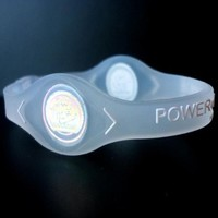 Power Balance Silicone Wristband Bracelet (Color:clear; Size: M)