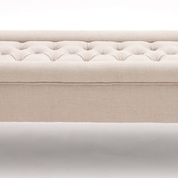 The Comfortable Wood Fabric Bench