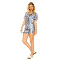 Women's Snakeskin Lounge Pajama Set
