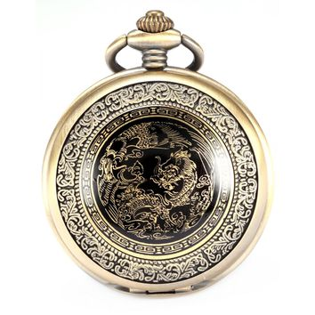 Bronze Dragon Quartz Pocket Watch