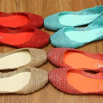 Jelly Ballet Flat PARIS Women shoes Jelly Flat Jelly Shoes By VICTORIA ADAMES