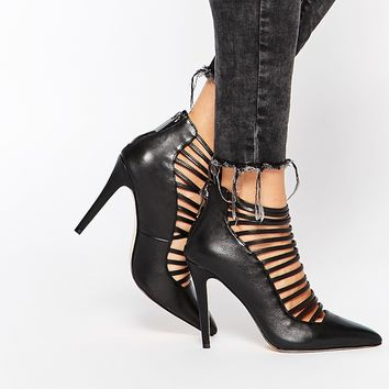 ALDO Astevia Black Tie Up Heeled Shoes