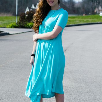 On The Go Dress- Ocean Blue