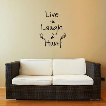 Live Laugh Hunt Wall Decal