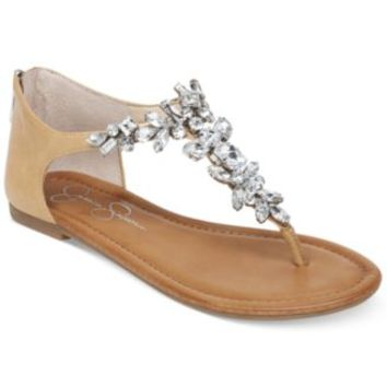 Jessica Simpson Kyla Hooded Flat Thong Sandals | macys.com