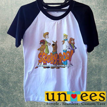 Scooby Doo Mystery Incorporated Short Raglan Sleeves T-shirt
