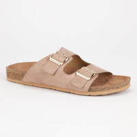 Soda Latasha Womens Sandals Taupe  In Sizes