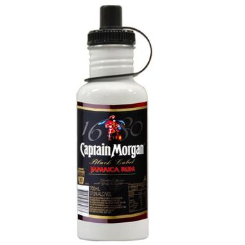 Gift Water Bottles | Black Captain Morgan Aluminum Water Bottles