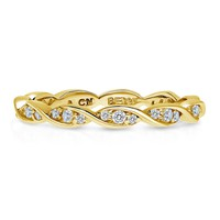 Gold Plated Sterling Silver CZ Eternity RingBe the first to write a reviewSKU# R1038-02