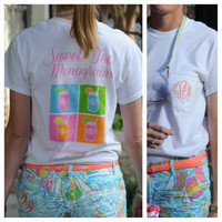 Sweet Tea Monograms Logo Pocket Tshirt