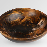 Large Resin Salad Bowl - Dark Horn