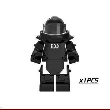 Single Sale PGPJ4027 Only The Armor SWAT World War Anti-explosion Clothing Future Weapon Building Blocks Kids Toys Gift