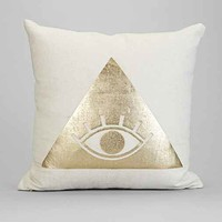 Magical Thinking Eyecon Pillow- Silver One