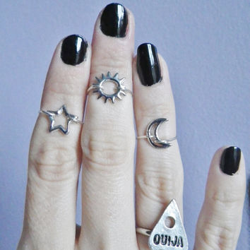 Sun midi above the knuckle ring by lotusfairy on Etsy