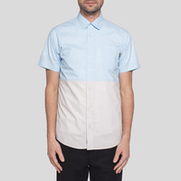 Benny Gold Retreat 2 Tone S/S Button Down Ice
