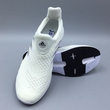 """Adidas"" Women Men Boost White Sneakers Running Sport Shoes"