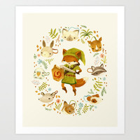 The Legend of Zelda: Mammal's Mask Art Print by Teagan White
