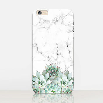 Succulent Marble Phone Case- iPhone 6 Case - iPhone 5 Case - iPhone 4 Case - Samsung S4 Case - iPhone 5C - Tough Case - Matte Case - Samsung