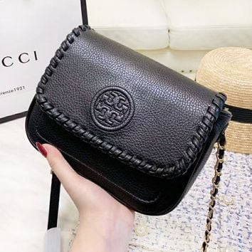 Tory Burch New fashion leather shoulder bag women Black