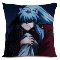 Bestfyou® Anime Throw Pillow Covers Cushion Covers Pillowcase Inuyasha, 16*16 Double-sided Design