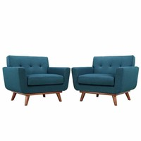 Azure Engage Armchair Wood Set of 2