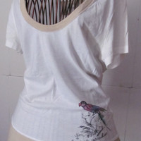 Vintage A F Abercrombie and Fitch Blouse I'm a Bird of Paradise Love Bird A&F Abercrombie and Fitch