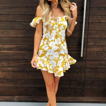 Have It All Dress: Marigold/Ivory