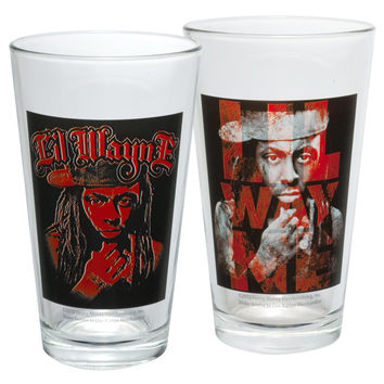 Lil Wayne - Thinking Two Pack Pint Glass Set