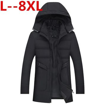 Plus size 8XL 6XL 5XL 4XL winter jacket men men's coat winter brand man clothes casacos masculino Thick winter coat 2018