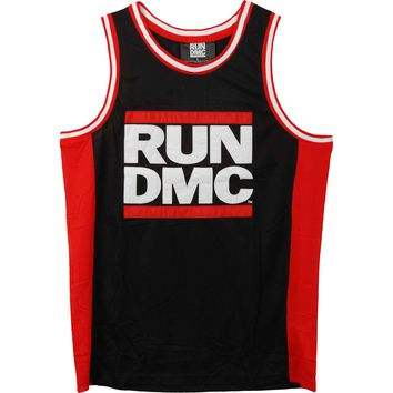 Run DMC Men's  Basketball  Jersey Black