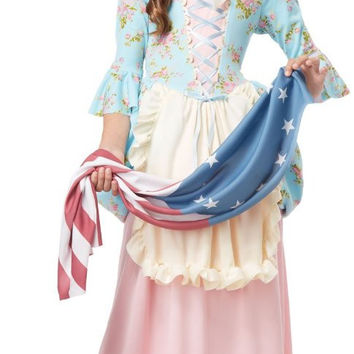 patriot colonial girl child costume | (large)