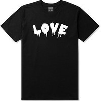 Kings Of NY Love Goth Blood Font Hate Short Sleeve T-Shirt