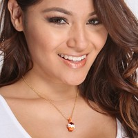 Orange Multi Desert Charm Pendent Necklace