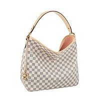 Louis Vuitton Damier Canvas Delightful MM Handbag Article :N41607 Made in France