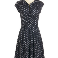 ModCloth Long Short Sleeves A-line Flock of the Draw Dress