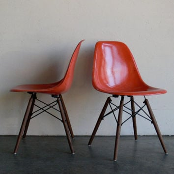 Eames for Herman Miller Dowel Base Side Chair-DSW (Set of 2)