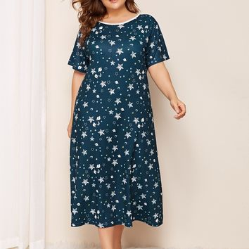 3212e0b0837ae Best Moon Printed Dresses Products on Wanelo