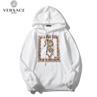 Versace hot seller of casual fashion couples gold dragon high-end hoodies White