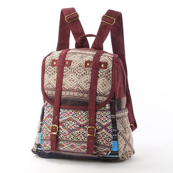 Native Southwestern Tribal Rucksack Minimalism, Oriental Backpack
