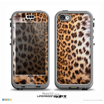 The Mirrored Leopard Hide Skin for the iPhone 5c nüüd LifeProof Case