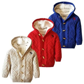 Baby Winter Coat Thick Climbing Clothes Newborn Boys Girls Snow Wear Warm Sweater Jacket winter Hooded Outwear